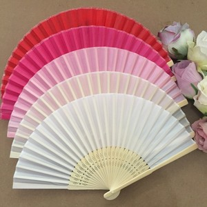 Image 5 - 50PCS Personalized Engraved Bamboo Folding Silk Hand Fan Customized Wedding Favor Birthday Baby Shower Holiday Gift For Guests