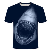 Animal Sharks 3D Printing Fashion Men's And Women's T-Shirt Casual O-Neck Loose Male Clothing Breathable Hip-Hop Adult Clothes
