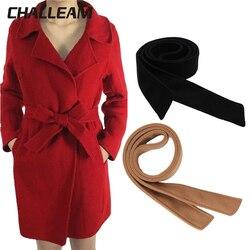 Abrigo con cinturón para señoras decorativas, cinturón ancho con abrigo de lana de doble cara, cinturones, accesorios anudados x250