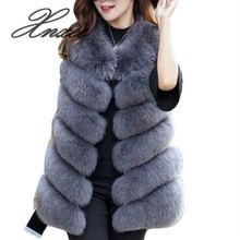 Xnxee Winter Warm Vest New Arrival Fashion Women Coat Fur Vest Faux Fur Coat Fox Fur Long Vest Plus Size S-3XL genuo new 2019 winter fashion women s faux fur vest faux fur coat thicker warm fox fur vest colete feminino plus size s 3xl
