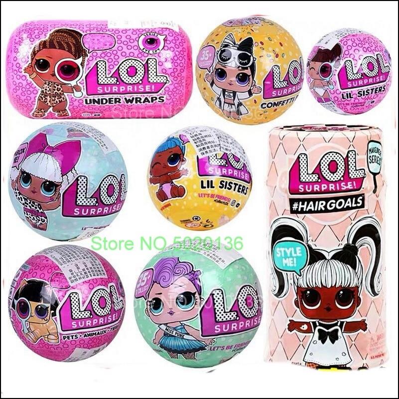 L.O.L. Surprise! Boule de paillettes de la série Disco dhiver pour garçons, Globe, animaux de compagnie, poupée LOLS, All Star, B.B.s Sports, équipe de joie scintillante