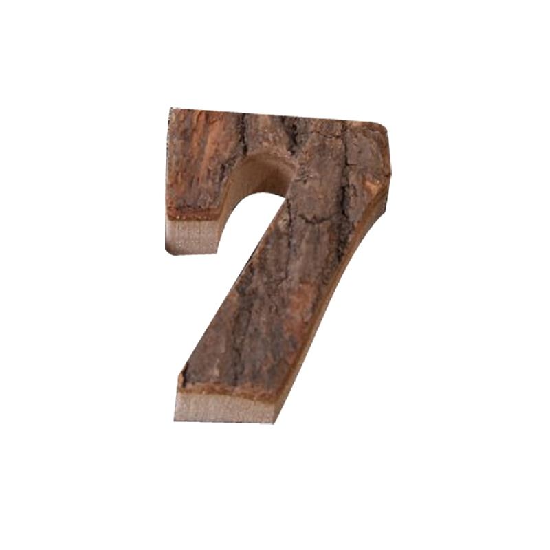 Вместе с коры твердой древесины Ретро Деревянный Английский алфавит номер для кафетерий украшение для дома, ресторана винтажная самодельная буква - Цвет: 7