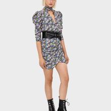 ZA nuevas mujeres Vintage estilo clásico floral abertura en el pecho vestido chic señoras elegante estilo de vocación mini vestido mujer ropa