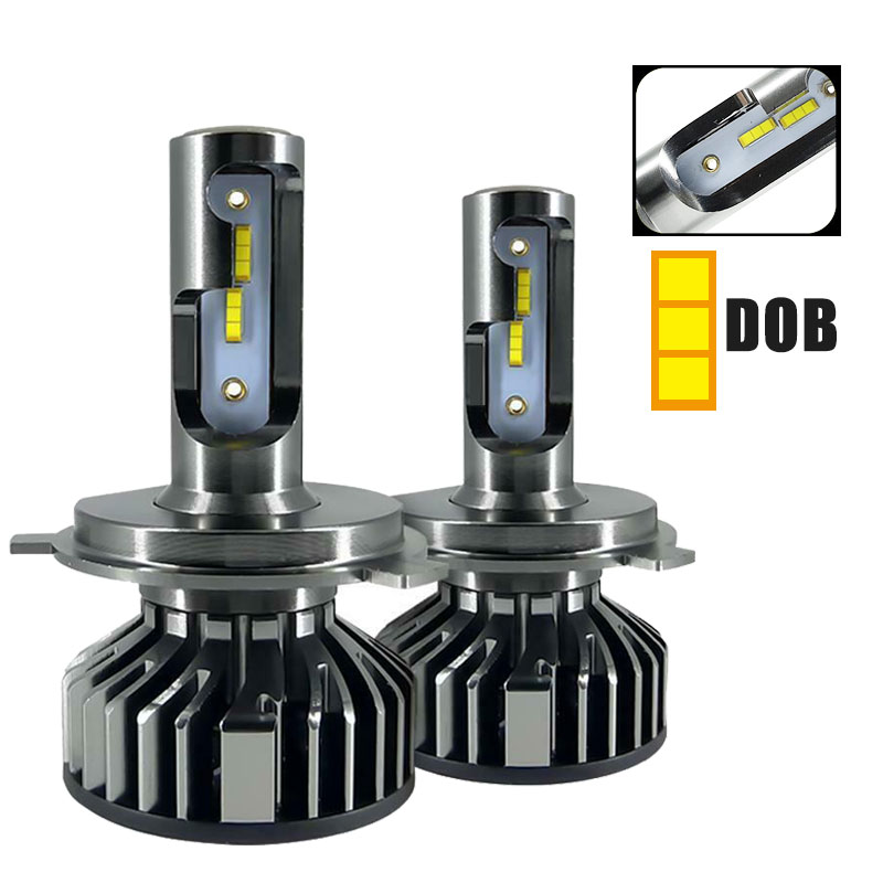 2PCS <font><b>LED</b></font> H7 <font><b>Headlight</b></font> DOB Chip <font><b>H4</b></font> Hi-lo <font><b>Headlight</b></font> Blub <font><b>6000LM</b></font> 25W/Bulb H1 <font><b>LED</b></font> Car Light H8 H9 H11 9005 9006 9-36V Head Light image