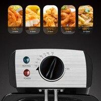 Friteuse électrique 3l, Thermostat de cuisine, four, Pot chaud, poulet frit, gril, Thermostat réglable 2