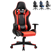 Sigtua WCG Gaming Chair Ergonomic Racing Office Computer Game Chair Adjustable Swivel Seat with Headrest and Lumbar Pillow