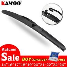 2pcs Universal car wiper balde 14 to 26 Natural Rubber HD clean Car Wiper Auto soft windscreen Accessories