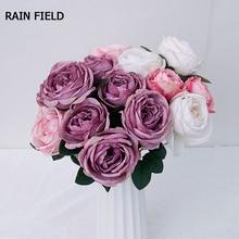 Rose Fake Flower Wedding Home Decoration Eternal Rose Artificial Flower Decoration Artificial Plant Decorative Fake Flower DIV