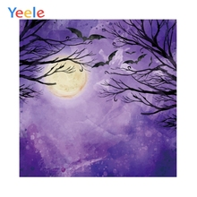 Halloween Pumpkin Light Moon Trees Forest Baby Photography Background Customized Photographic Backdrops For Photo Studio customized art fabric candy rack photography backdrops for child studios drops newborns background 5x7ft