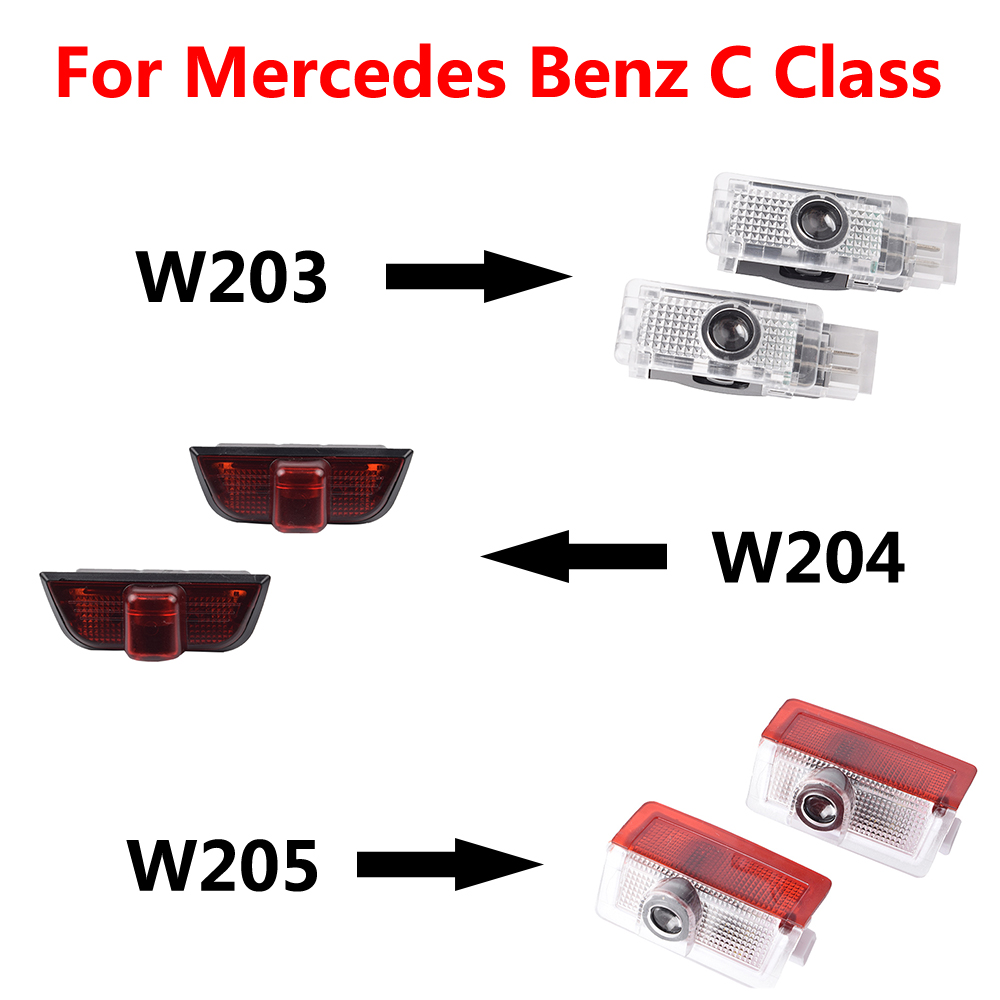 2Pcs For <font><b>Mercedes</b></font> <font><b>Benz</b></font> C Class W203 W204 <font><b>W205</b></font> 2000 - 2017 2018 <font><b>led</b></font> Car Logo Door Welcome Light Projector Laser Lamps AMG Logo image