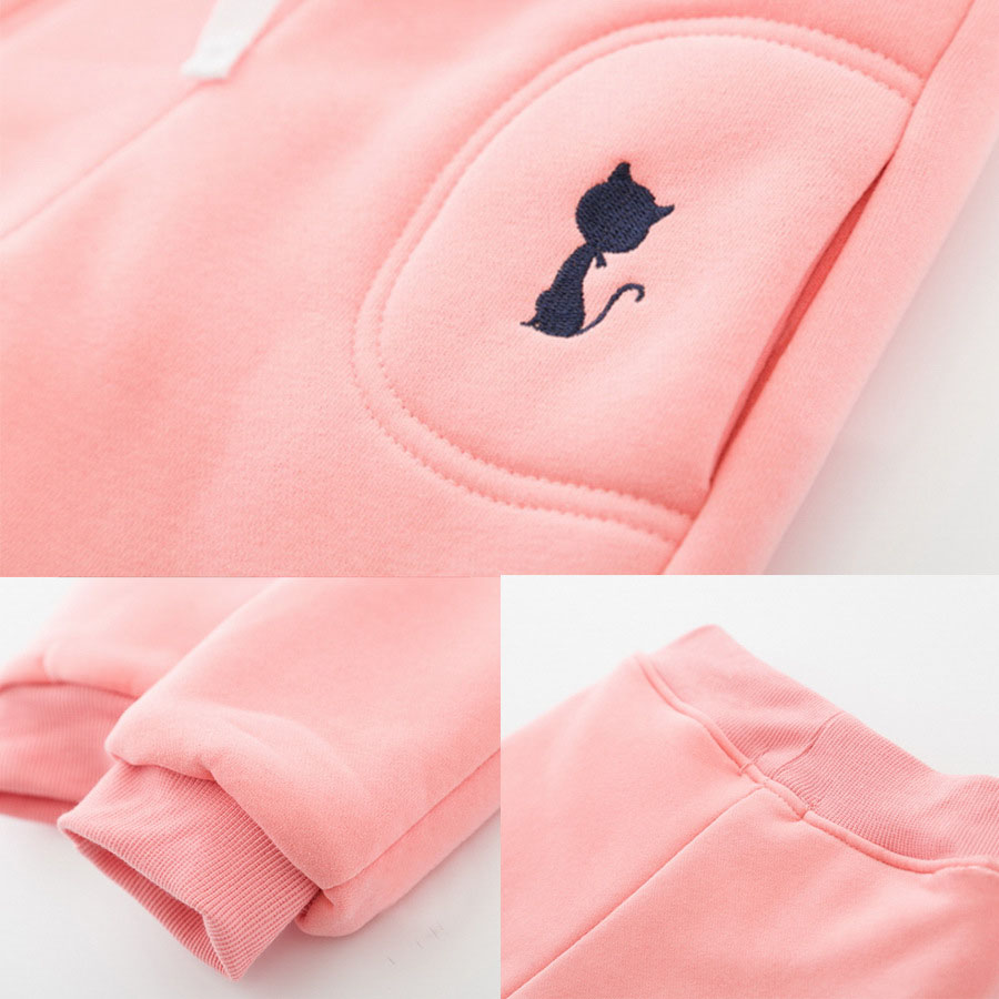 VFOCHI New Girls Pencil Pants Winter Thick Velvet Pants Stretch Waist Kids Pants Warm Children Trousers Baby Girls Thicken Pants 5