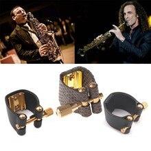 1pc alto sax ligaduras fixador durável para saxofone peças de borracha bocal