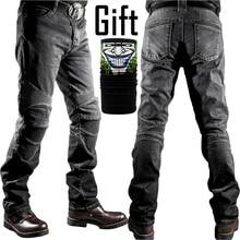 Новые мотоциклетные брюки мужские мото джинсы защитные снаряжение для езды на мотоцикле брюки штаны для мотокросса брюки мото брюки