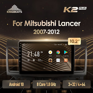 KingBeats Android 10 Octa-Core head unit HU 4G in Dash Car Radio Multimedia Video Player Navigation GPS For Mitsubishi Lancer 10