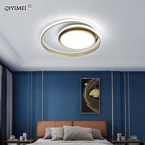 Image 4 - Modern Ceiling Lights LED Lamp For Living Room Bedroom Study Room White black color surface mounted Ceiling Lamp Deco AC85 265V