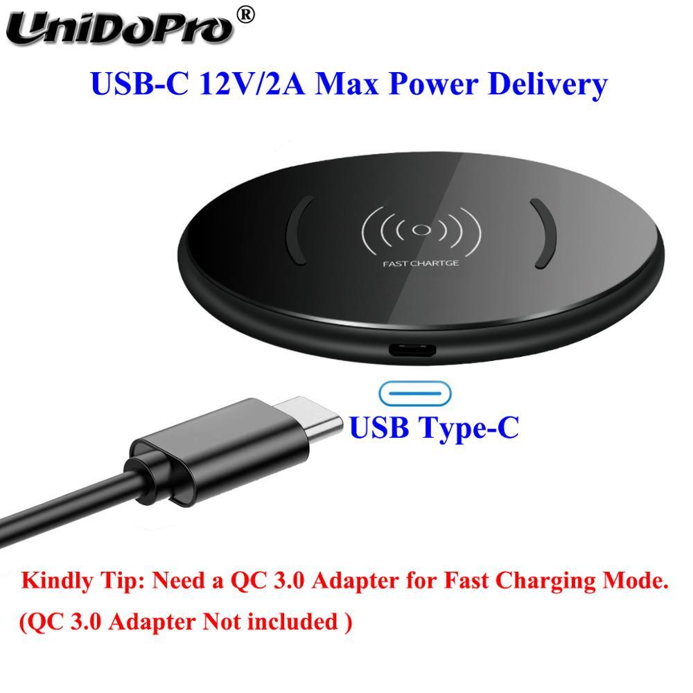Image 3 - Qi 15W Fast Wireless Charger Pad w/ QC 3.0 EU AC Adapter for  Blackview BV9900 BV9800 BV9700 BV9600 BV6800 BV5800 Pro BV9500 Plus  -
