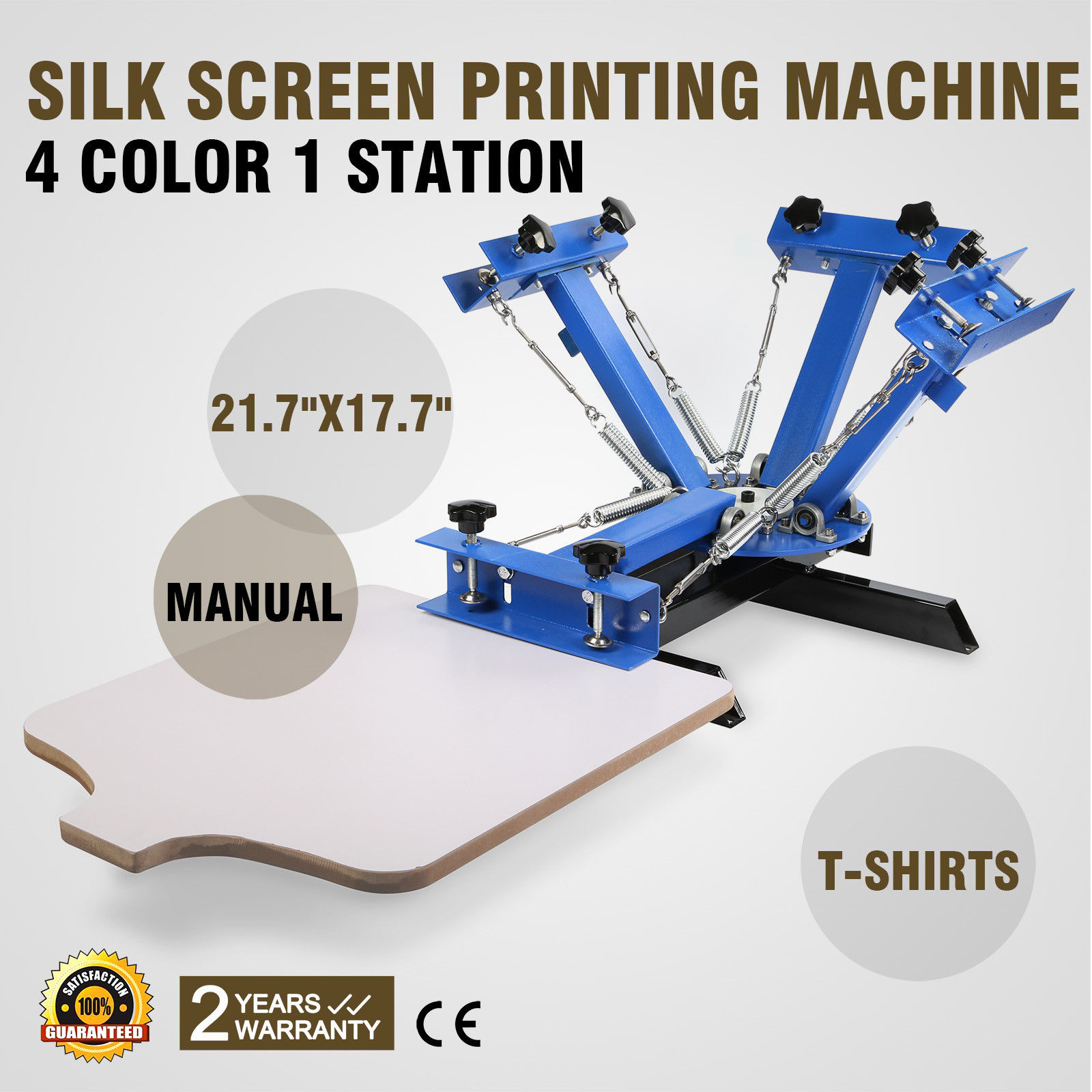 4 Color 1 Station Silk Screen Printing Machine Pressing T-Shirt Print Cutting