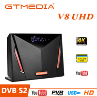 GT MEDIA V8 UHD 4K Satellite Decoder DVB-S2X + T2 Empfänger mit Smart Card Slot Unterstützung 4K SCART/USB/PVR/H.265 HEVC/ WiFi