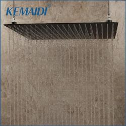 KEMAIDI 20 بوصة الأسود حمام من الفولاذ المقاوم للصدأ مربع دش رئيس السقف جدار أعلى البخاخ رقيقة عالية الضغط