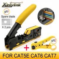 Xintylink EZ rj45 pense crimper cat5 cat6 cat7 ağ aracı rg rj 45 ethernet kablo striptizci sıkıştırma kelepçesi maşa klip rg45 lan