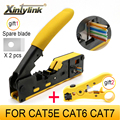 Сетевой Инструмент xintylink EZ rj45 обжимные плоскогубцы cat5 cat6 cat7 rg rj 45, устройство для зачистки кабеля ethernet, зажим для отжима, щипцы, зажим rg45 lan