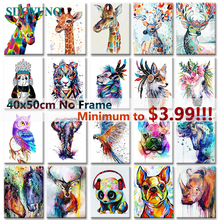 SDOYUNO 40x50cm Frameless Painting By Numbers Animals On Canvas Pictures Home Decoration DIY minimalism Style