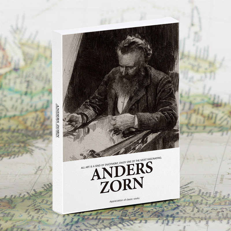 30 Pcs/Set Anders Zorn Sketch Painting Postcard INS Style Greeting Cards Message Card DIY Journal Decoration