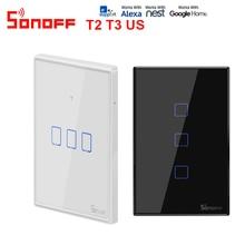 Sonoff T2 T3US 120 サイズ 1/2/3 ギャングtx 433 433mhzのrfリモート処理制御無線lanスイッチとボーダー作品alexaとgoogleホーム