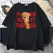 Oversized T Shirts Women Cartoon Bear Kawaii T-Shirt Female Short Sleeve Vintage Top Sweat Tees Cute Clothes Girls Big Size Tops