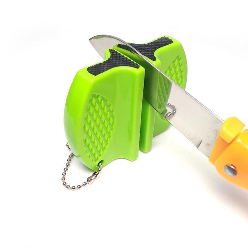 Портативная мини-точилка для кухонных ножей, кухонные инструменты, аксессуары, Бабочка, кухонный точильный камень, двухступенчатая шлифова...