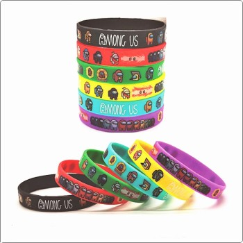 12pcs/set Anime Among Us Sports Bracelet Game Cartoon Wristband Toy Figure for Children Kids Adult Birthday Party Gifts 6