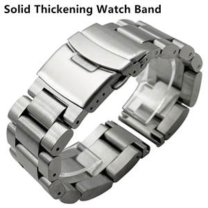 Bracelet Strap Watch-Band Wrist-Watches Metal 26mm 316l-Stainless-Steel 24mm 22mm Solid