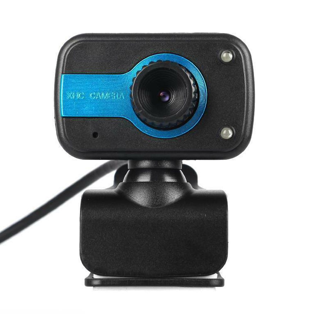 Rotatable USB HD Webcam 640X480 Built-in Microphone 2LED Night Vision Clip-on USB Web Camera for Windows 10 8 7 XP PC Laptop