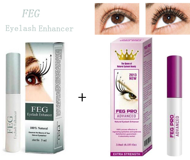 2PCS FEG Eyelash Enhancer Eyelash Growth Treatment Serum And  3ml Eyelash Growth Pro Advanced Eye Lashes Extension Lengthening