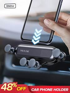 GETIHU Car-Phone-Holder Cell-Stand Clip-Mount Air-Vent Mobile-Support No-Magnetic iPhone X