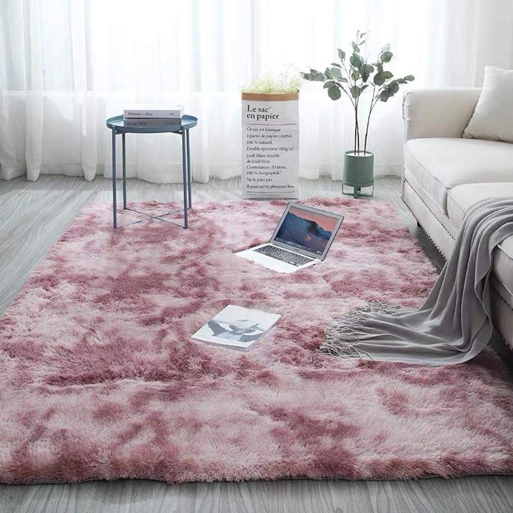 Moderns Abstract Rugs Mat Decor Bedroom Living Room Fluffy Shag Rug Plush Carpet PAK55