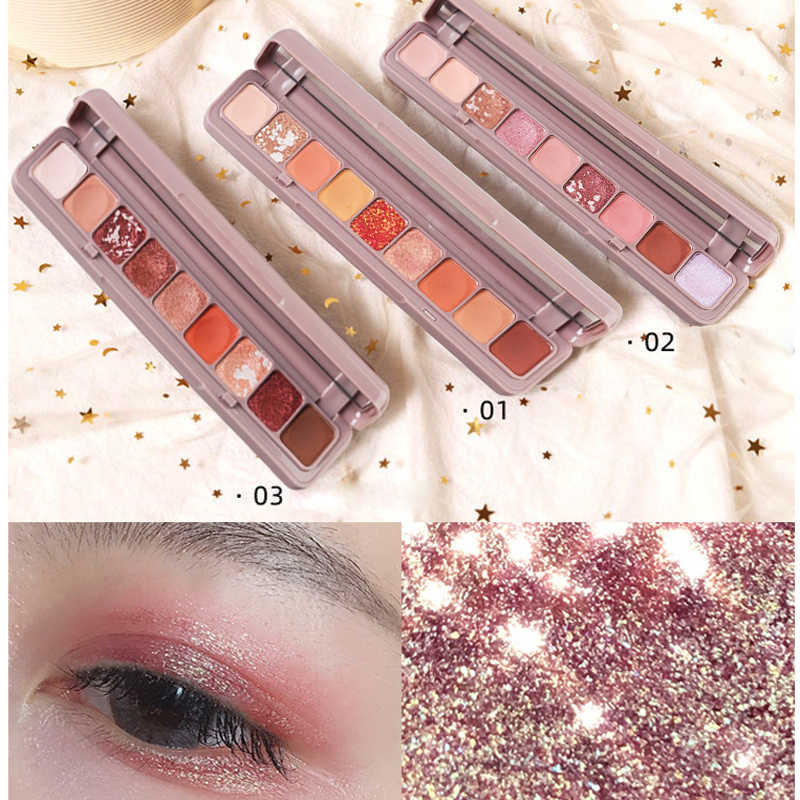 10 Warna Eyeshadow Palet Glitter Galaxy Pigmen Shimmer Matte Eyeshadow Makeup Flash Bersinar Berlian Shadow Kit Dropshipping