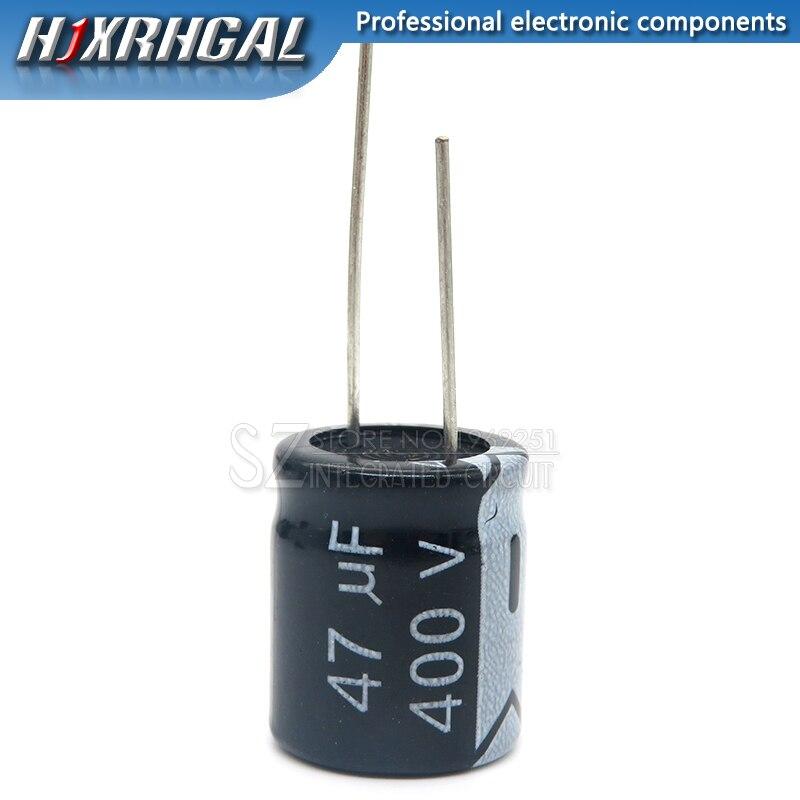 1 шт. 400V47UF 16*22 мм, 47 (Европа) мкФ 400V 16*22 электролитический конденсатор с алюминиевой крышкой