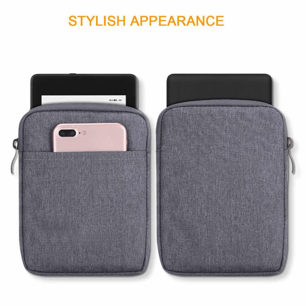 Örgü su geçirmez koruma astarı Amazon Kindle Oasis için 3 7 inç çift depolama telefon kılıfı/yuvası cüzdan fermuarlı çanta