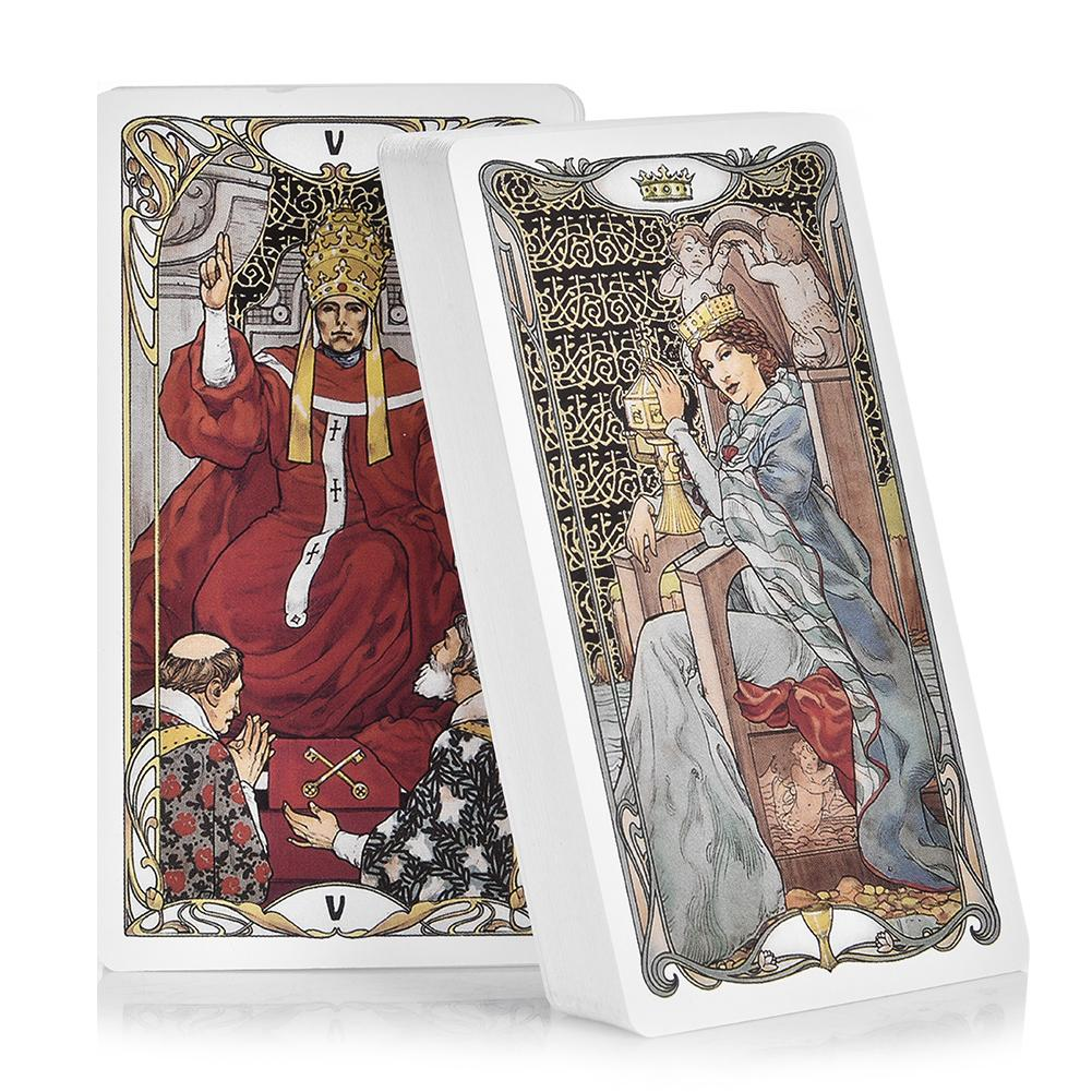 In Stock 78 Golden Art Nouveau Tarot Tarot Cards Board Game Cards