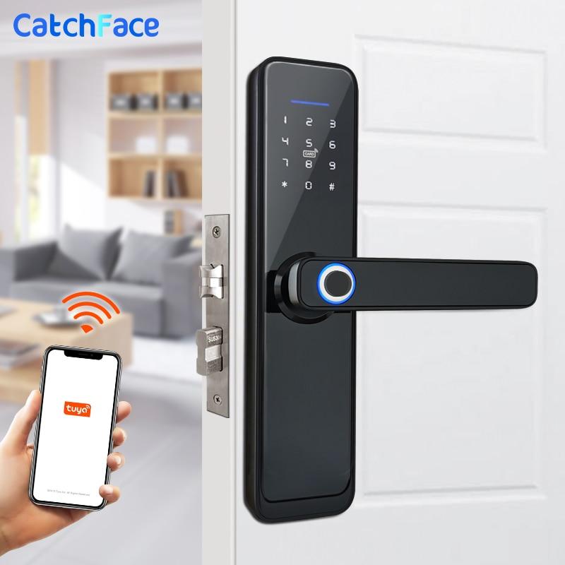 Tuya Smart Fingerprint Door Lock  Safe Digital Electronic Lock With WiFi APP Password RFID Unlock  For Home Security