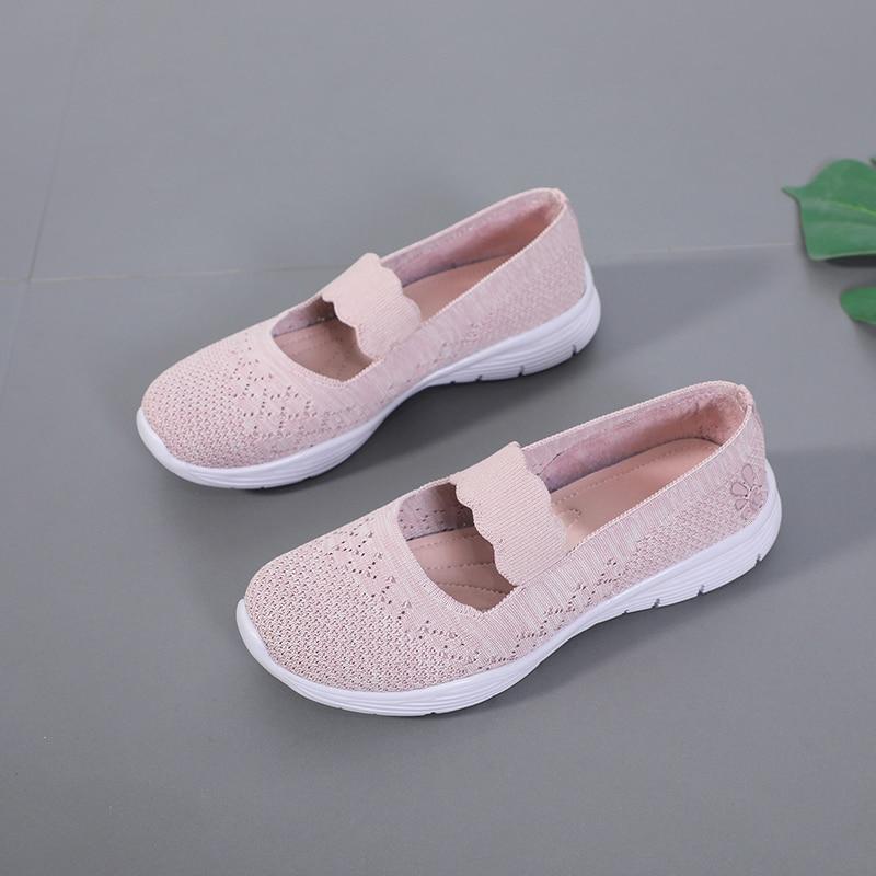 STQ Women Sneakers Summer Fabric Women Flat Shoes Woman Casual Breathable Women Flats Loafers Fashion Comfortable Shoes 9968