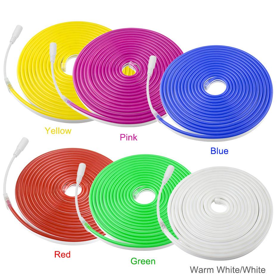 Led Neon Light Waterproof 12V LED Strip 2835 Diode Tape 120LEDs/M Flexible Rope Tube For DIY Car Christmas Holiday Decor Light