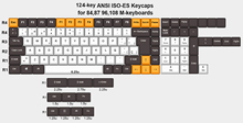 124 key Spanish Layout European ANSI ISO ES OEM PBT Keycaps for Cherry MX Switches of Mechanical Keyboard Free Shipping