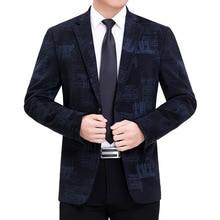 Suit Jacket Blazer Coat Tuxedo Outerwear Americana Long-Sleeve Print Casual Luxury Autumn