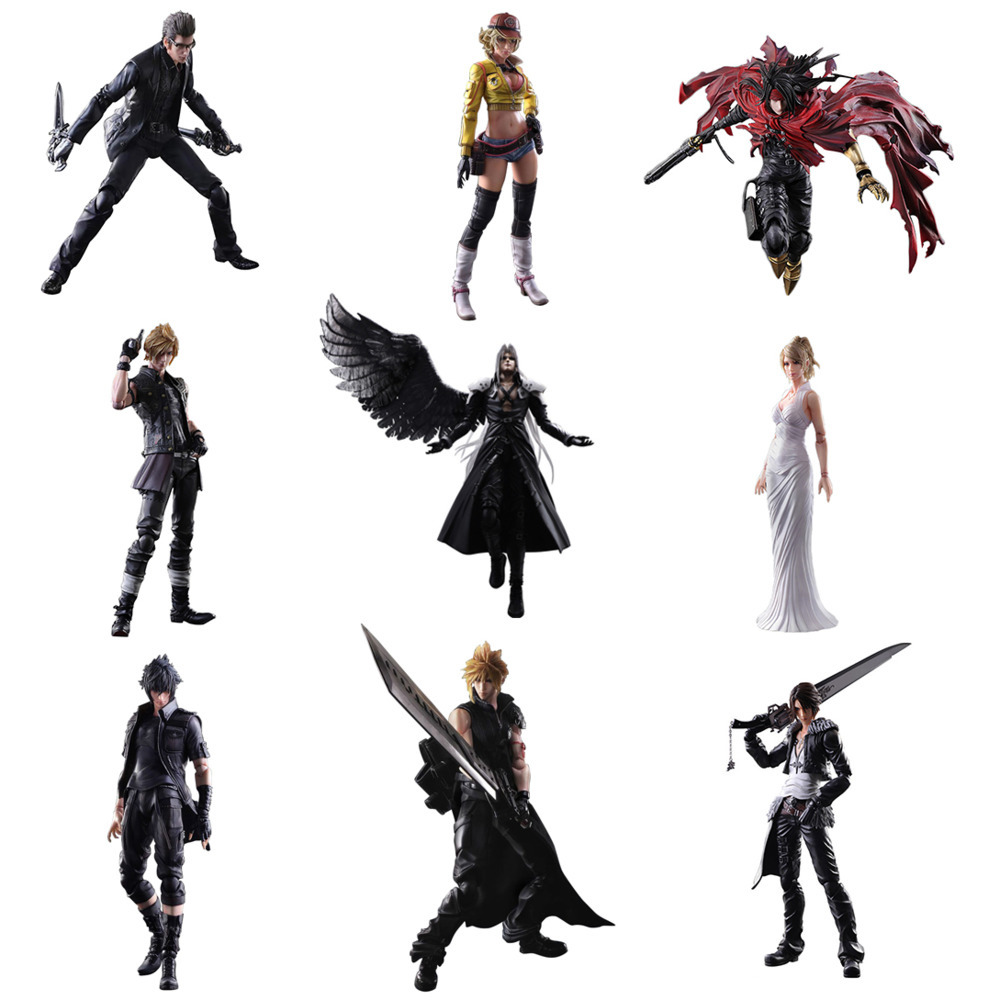 Play Arts KO PA KAI <font><b>Final</b></font> <font><b>Fantasy</b></font> Ignis Cloud Squall Vincent Anime Action Figure Model 25cm Collection Toy Desktop Decoration image