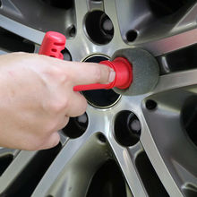 1Pcs accessori per la pulizia dellauto strumento per la pulizia della spazzola della spugna del dado della vite della ruota della gomma della gomma