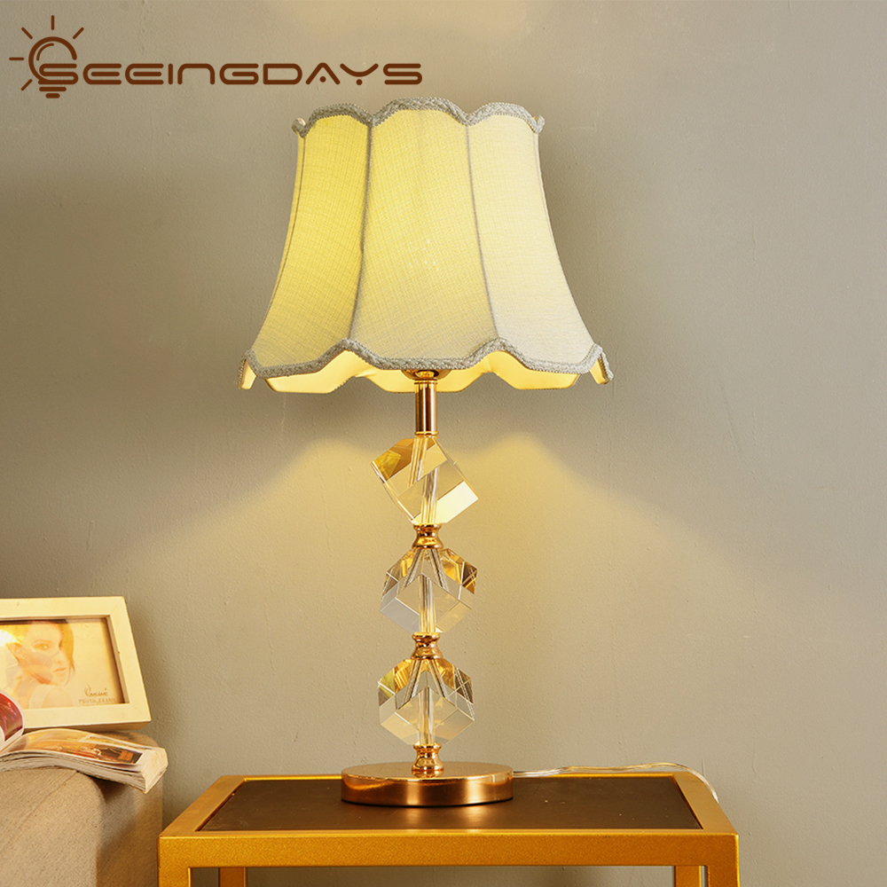 K9 Crystal Stone Table Lamp For Bedroom For Living Room Clear Crystal Bedside Table Lamp High
