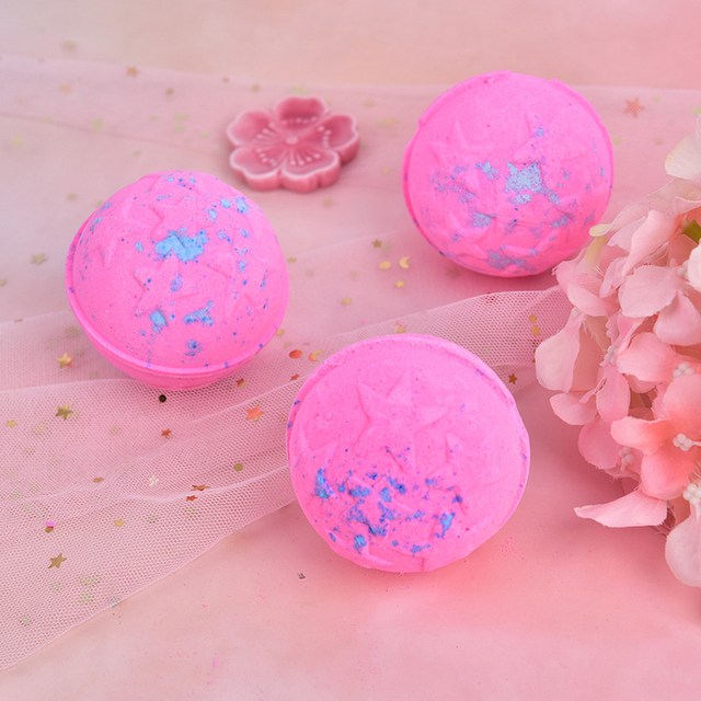 2PCS Fashion Handmade Bath Organic Bath Balls Skin Moisturize Bubble Bath Salt 2