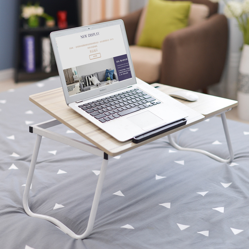 Adjustable Foldable Computer Desk Tilt Portable Laptop Desk Home Dormitory Lazy Bed Desk Shelf With Mobile Phone Slot Mx9121609